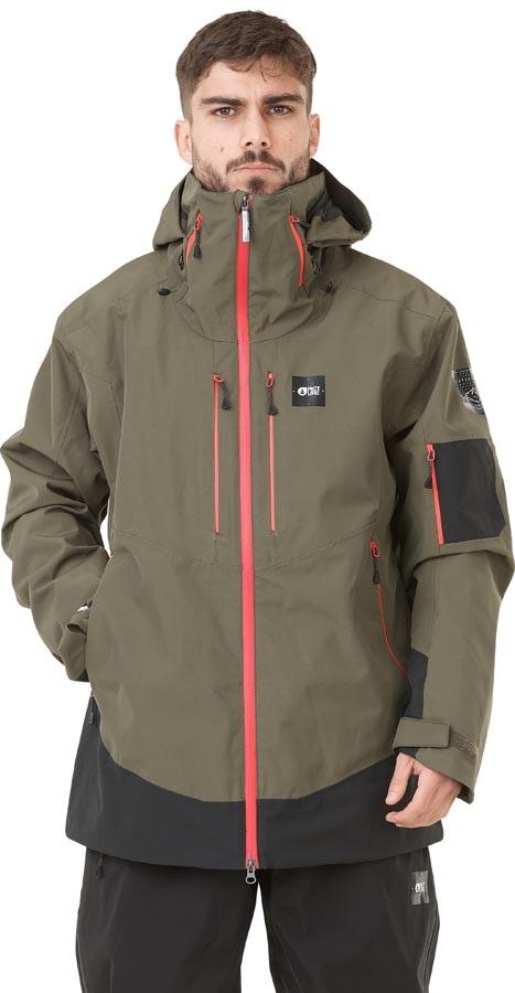Picture Track Ski/Snowboard Jacket, S Dark Army Green