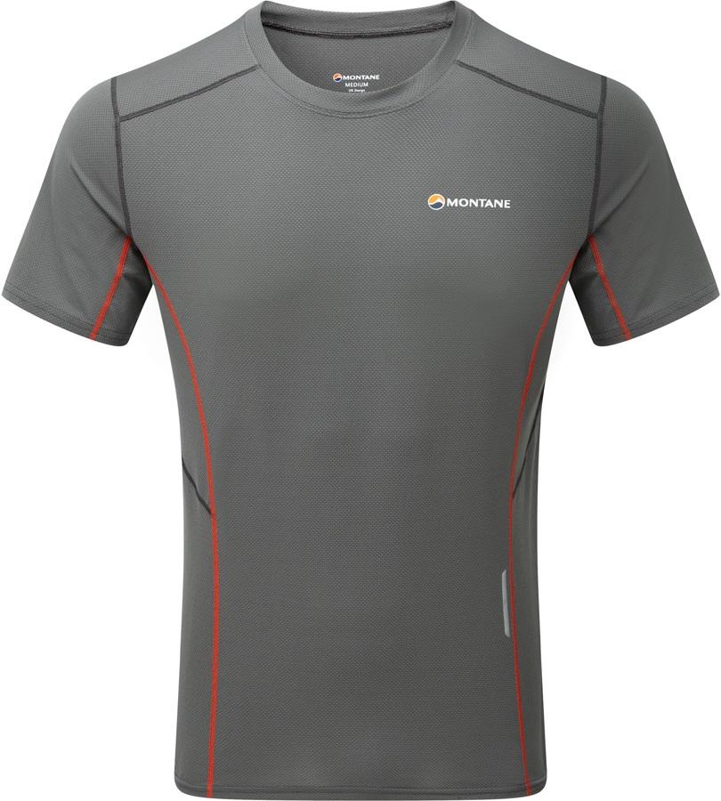 Montane Razor Quick Dry Running Short Sleeve T-Shirt, S Shadow