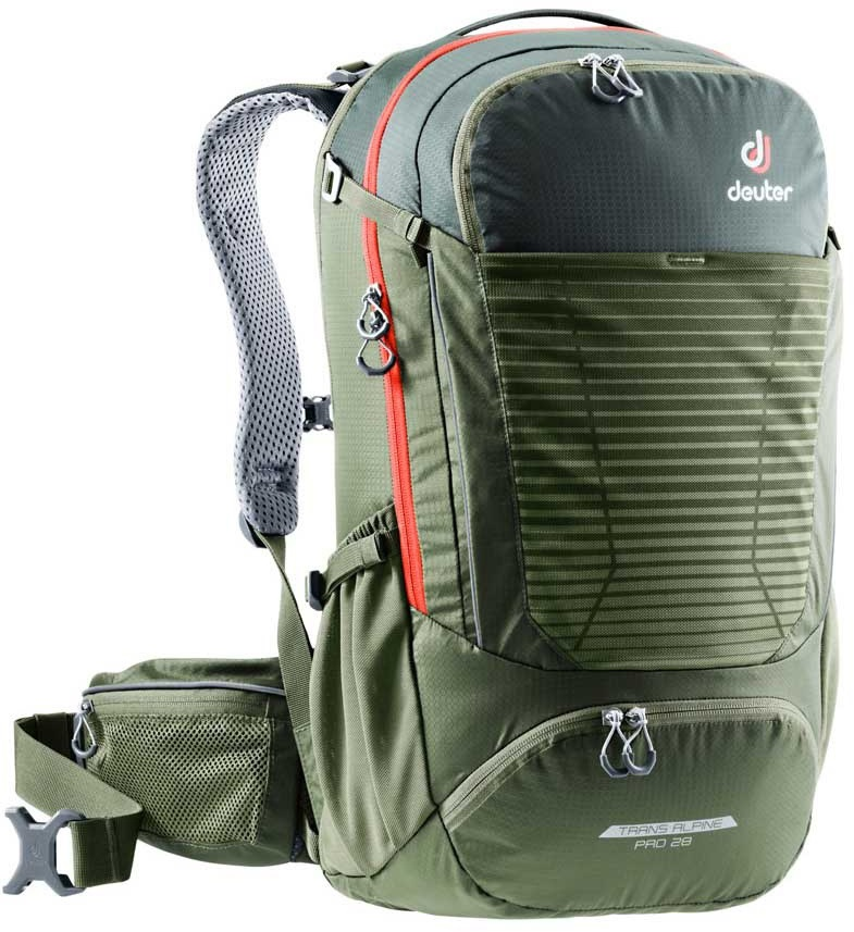 Deuter Trans Alpine Pro 28 Biking Backpack, 28L Ivy/Khaki