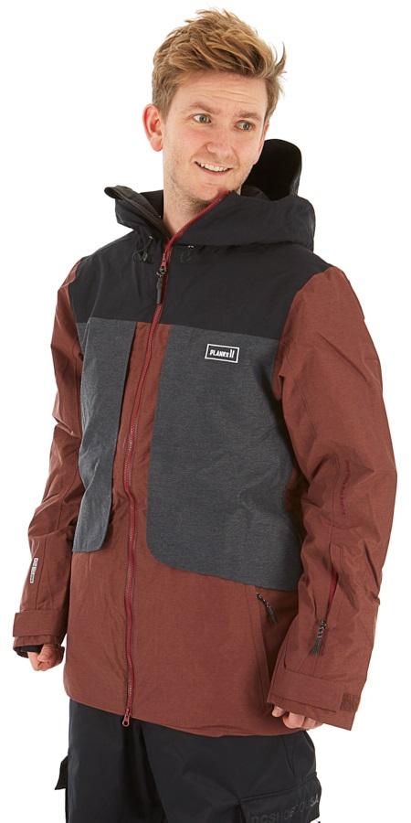 Planks Tracker Snowboard/Ski Jacket, S Maroon