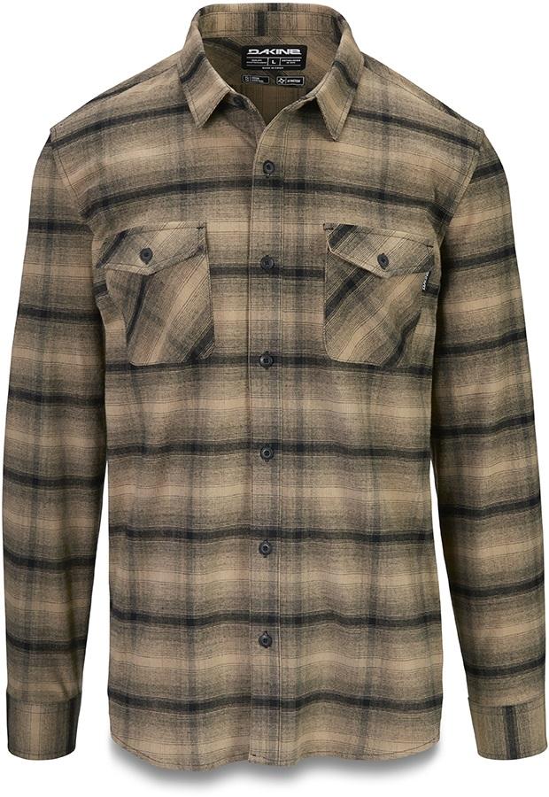 Dakine Underwood Long Sleeve Flannel Shirt, L Barley