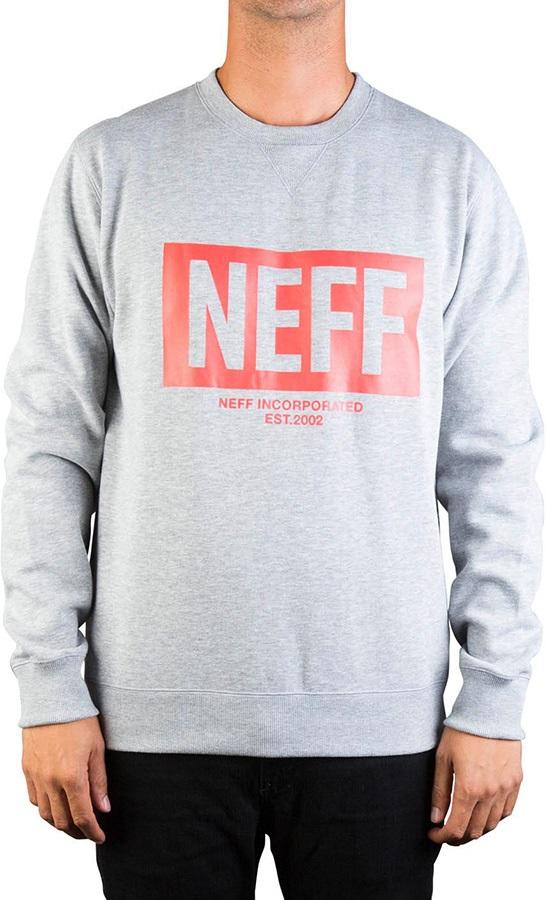 Neff New World Crew Fleece Pullover Jumper, S Athletic Heather