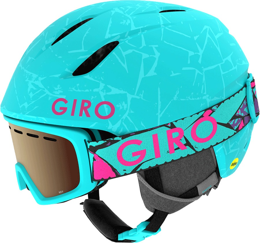 Giro Launch Combo Kids Ski/Snowboard Helmet, S Glacier Rock