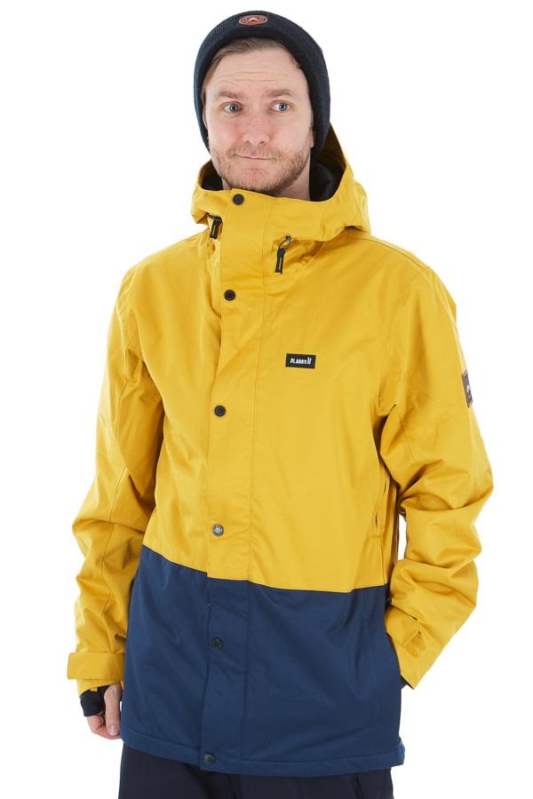 Planks Feel Good Ski/Snowboard Jacket, M Mustard