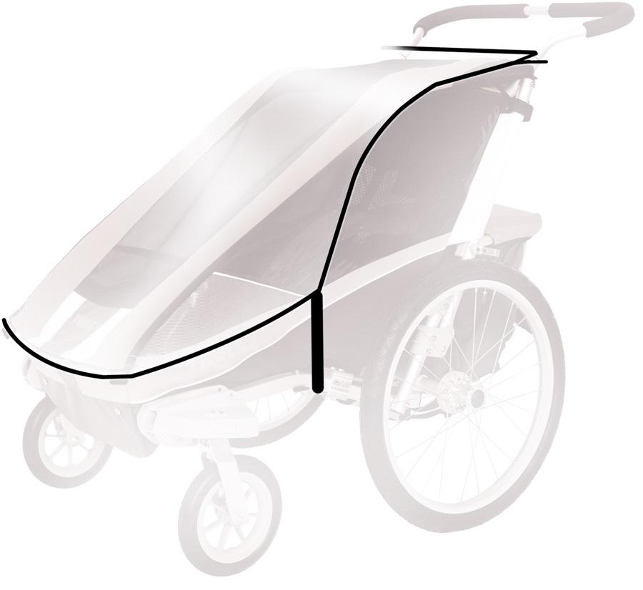 Thule Rain Cover Child Carrier Accessory Cougar 2 / CX 2