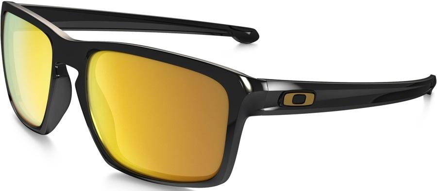 Oakley Sliver 24K Iridium Sunglasses, Polished Black