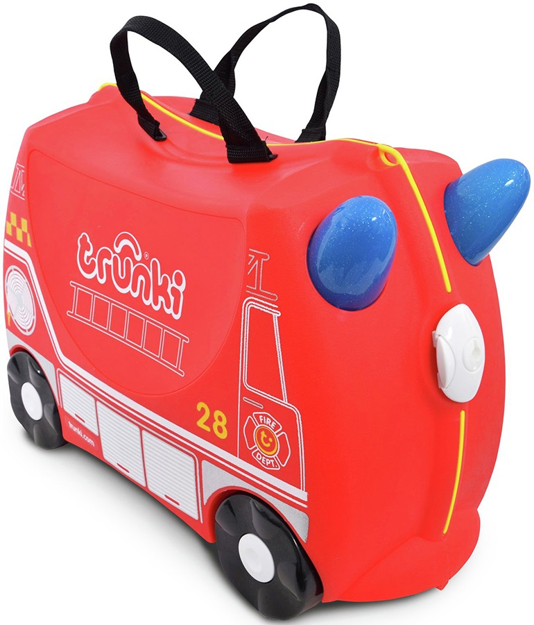 Trunki Frank The Fire Truck Kid's Wheeled Hand Luggage, 18L Red