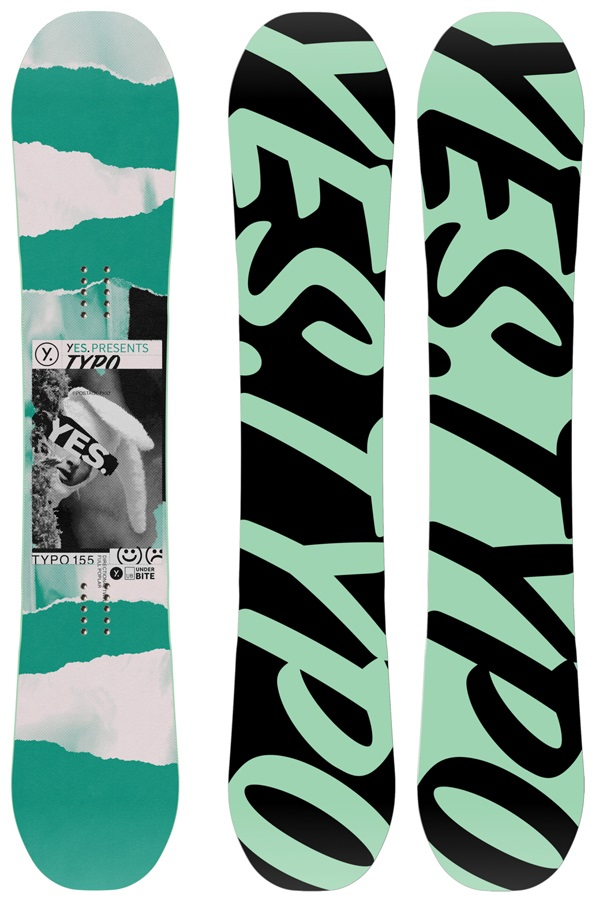 Yes. The Typo Hybrid Camber Snowboard, 163cm Wide 2020