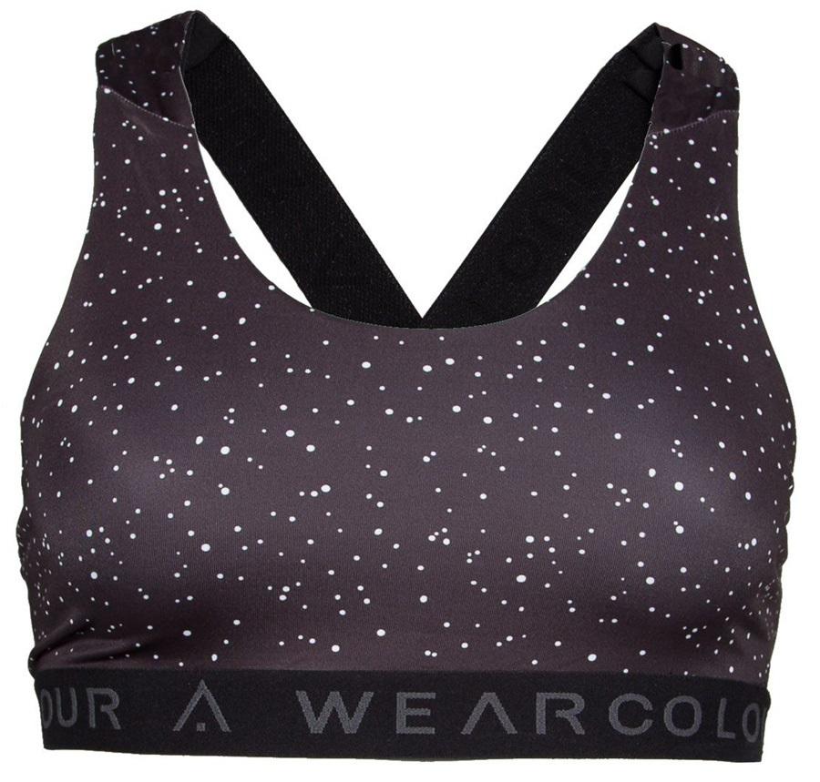 Wearcolour Perform Active Top Sports Bra, S Black Spray
