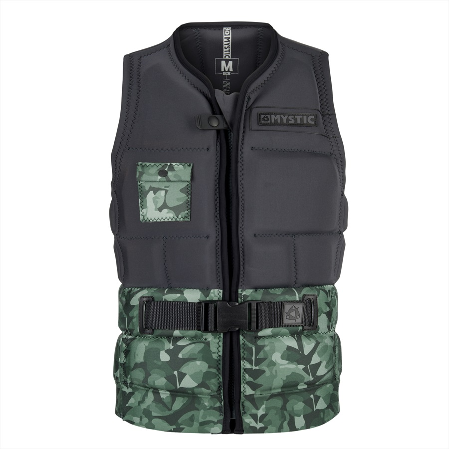 Mystic Shred - Green All Over Wakeboard Impact Vest, S Green All Over