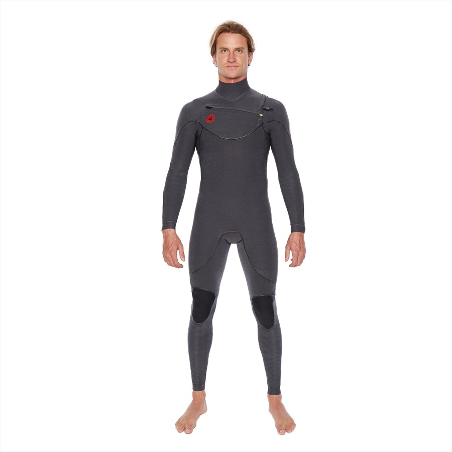 Body Glove Red Cell 2/2 Slant Zip Full Surfing Wetsuit, MS Jet Black