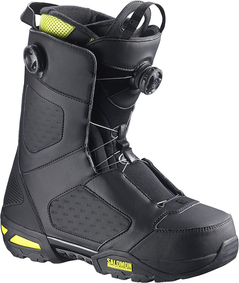 5ec264380e Salomon Synapse Focus BOA Mens Snowboard Boots, UK 10.5, Black/Yellow