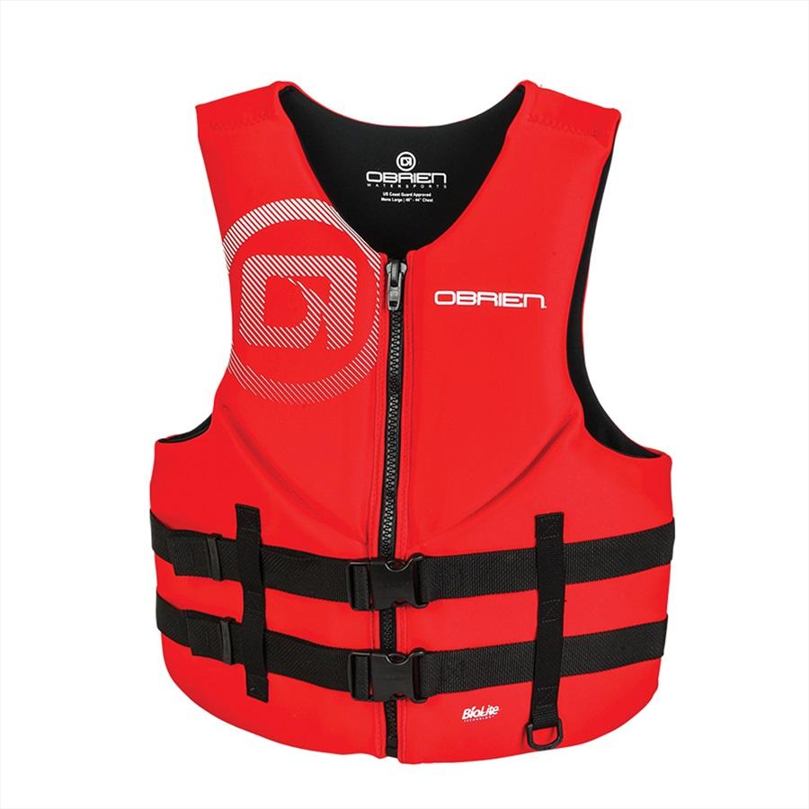 O'Brien Traditional Neo Ski Impact Vest Buoyancy Aid, L Red Black 2020