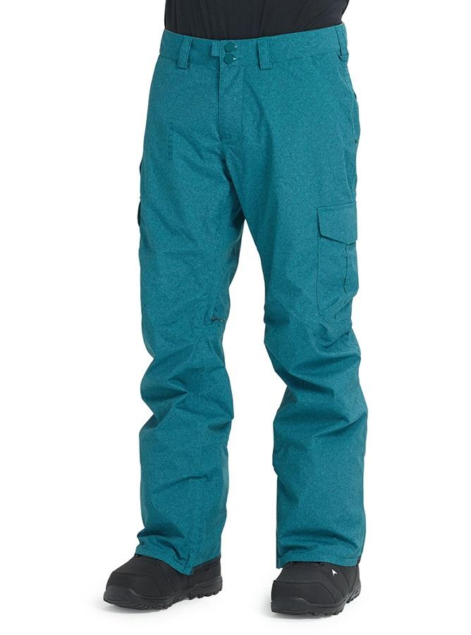 Burton Cargo Snowboard/Ski Pants, L Deep Teal Acid Wash