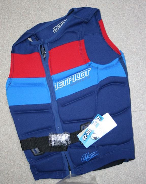 JetPilot Chris O'Shea Wakeboard Impact Vest, S, Blue