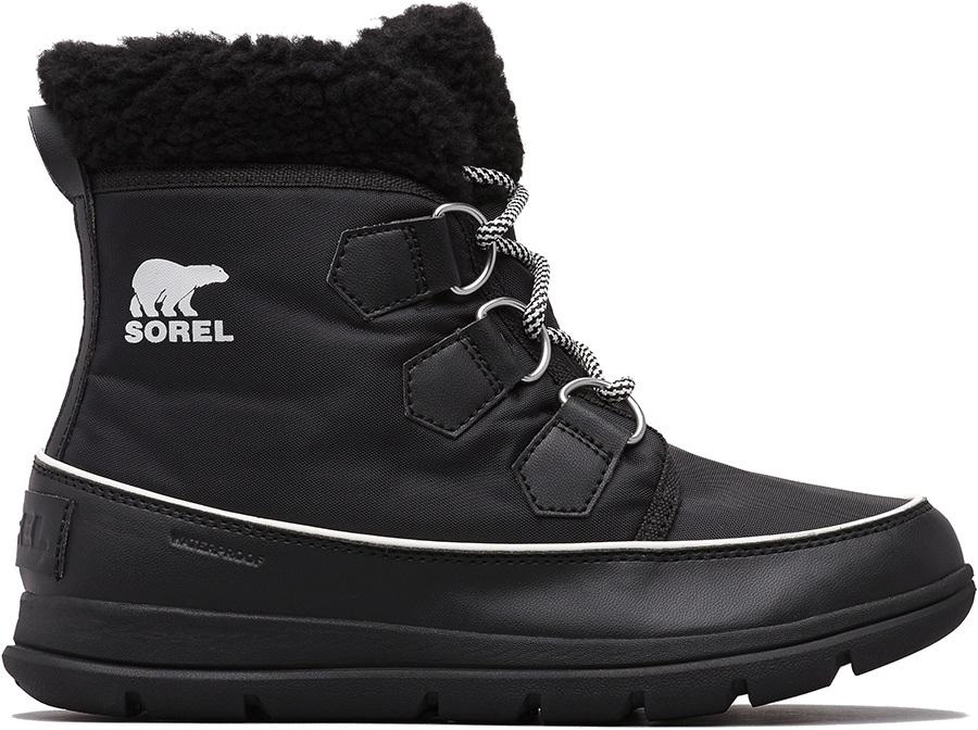 Sorel Explorer Carnival Women's Snow Boots, UK 5 Black Sea Salt