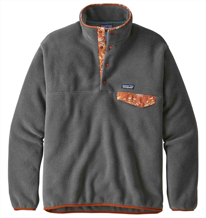 info for da50a 3cd0c Patagonia Synchilla Snap-T P/O Men's LW Fleece Pullover M Forge Grey