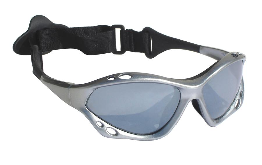 Jobe Knox Floatable Watersports Sun Glasses, Silver Polarized