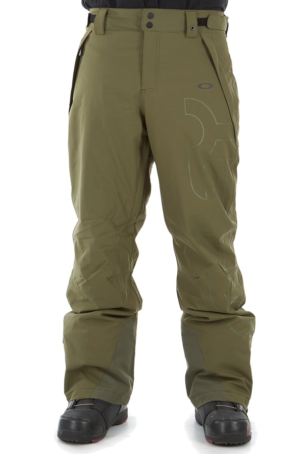 Oakley Cedar Ridge Insulated Snowboard/Ski Pants, S Dark Brush