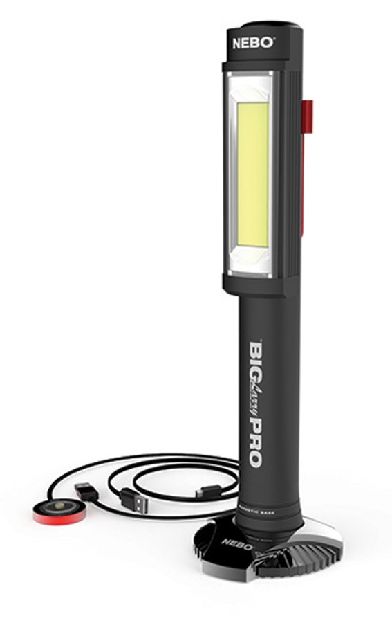 Nebo Big Larry Pro Rechargeable LED Torch, 500lm Black