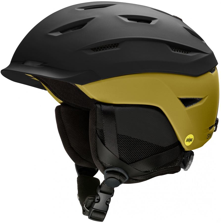 Smith Level MIPS Snowboard/Ski Helmet, L Matte Black/ Myst Green
