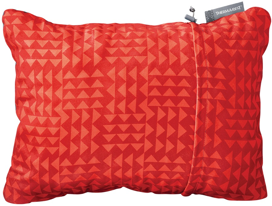 ThermaRest Compressible Travel Pillow Camping Pillow, L Cardinal