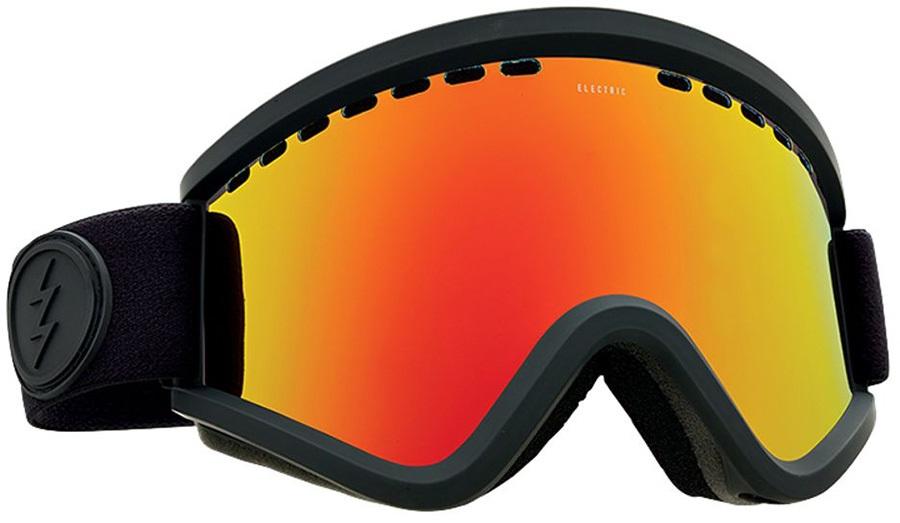 Electric EGV Brose/Red Chrome Ski/Snowboard Goggles, M Matte Black