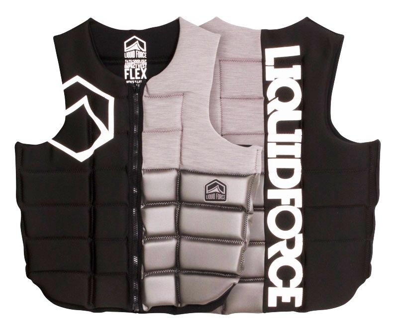 Liquid Force Flex Wakeboard Impact Vest L Black Silver 2018