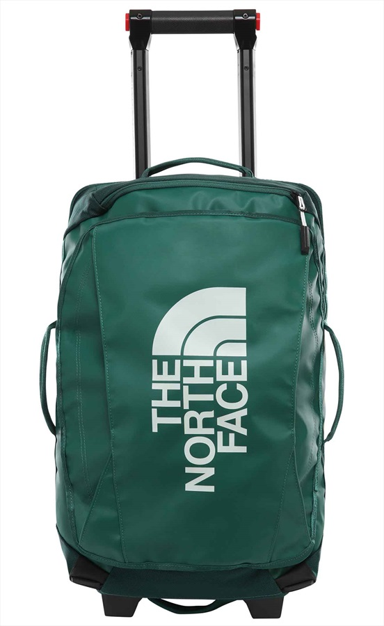 """The North Face Rolling Thunder Wheeled Luggage Bag, 22"""" 40L Green/Grey"""