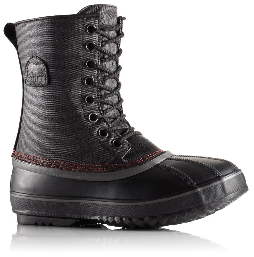Sorel 1964 Premium T CVS Men's Winter Boots, UK 6.5 Black, Sail Red