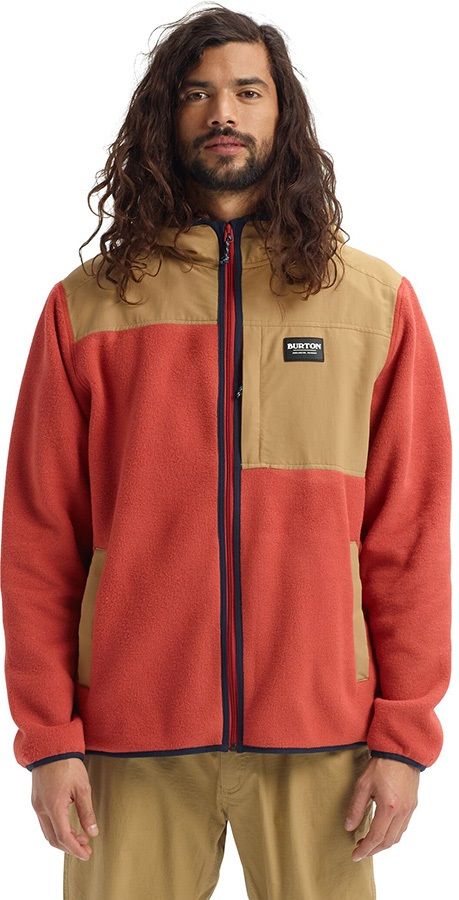 Burton Hearth Full-Zip Ski/Snowboard Fleece Hoodie, L Tandori/Kelp