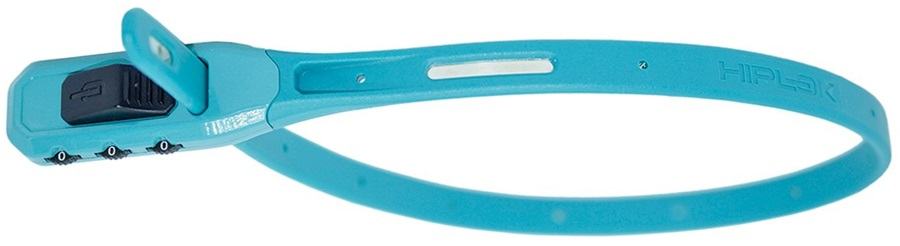 Hiplok Z Lok Combo Steel Core Cable Tie Combination Lock, 40cm Cyan