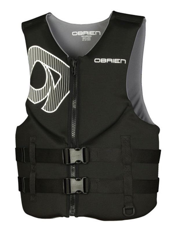 O'Brien Traditional Neo Ski Impact Vest Buoyancy Aid, XS Black Grey