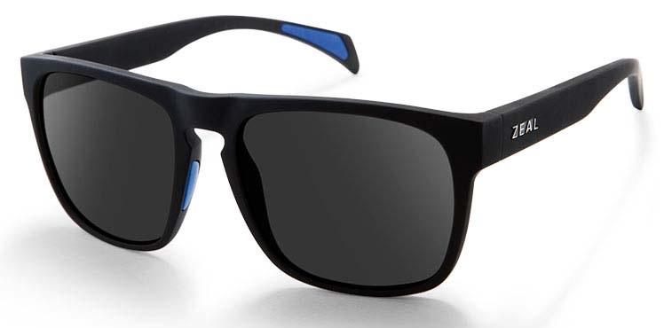 Zeal Capitol Sunglasses Black Matte Dark Grey