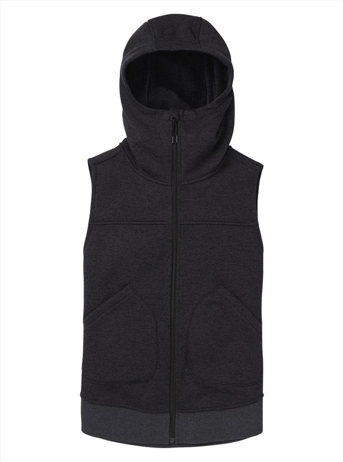 Burton Women's Minxy Full-Zip Hooded Gilet Vest, S True Black Heather