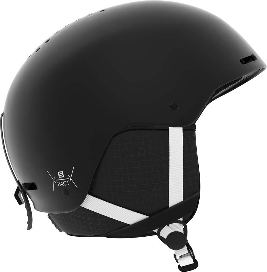 Salomon Pact Kids Snowboard/Ski Helmet, XS Black White