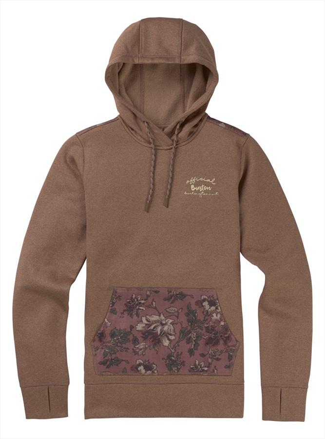 Burton Oak Pullover Women's Ski/Snowboard Hoodie S Brownie/Floral Camo