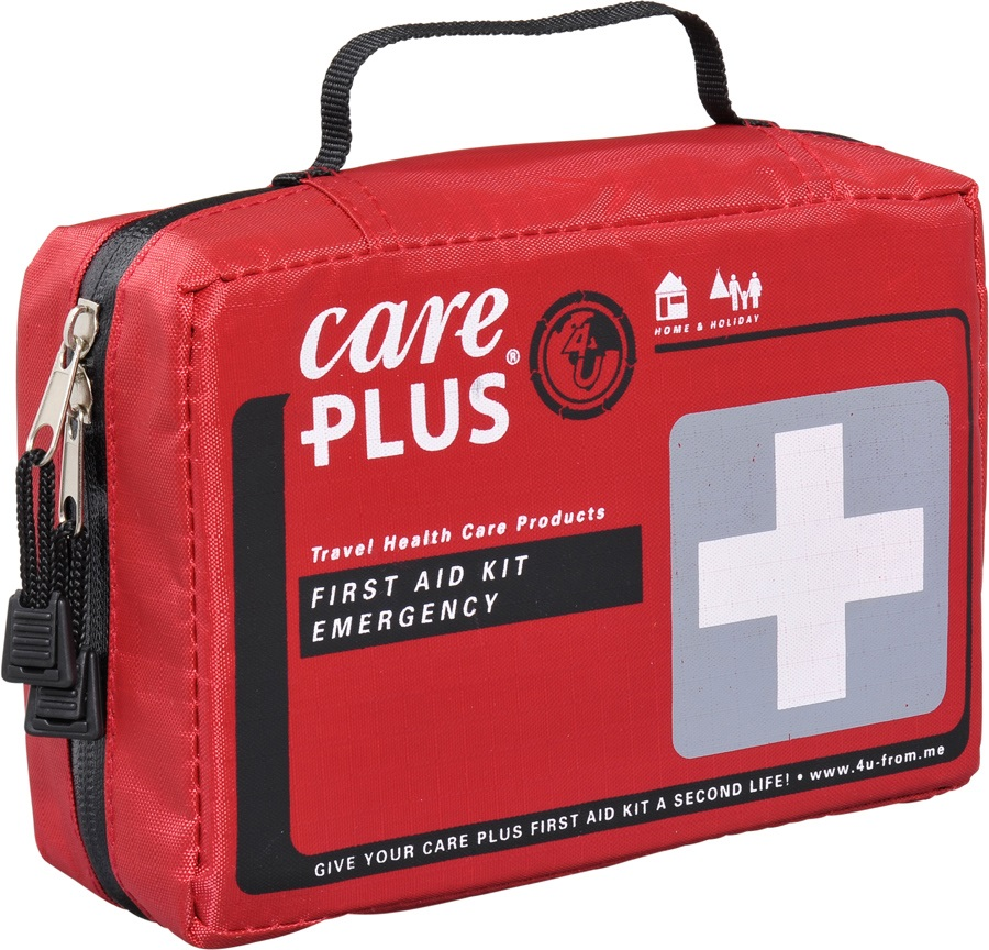 Care Plus Emergency Travel & Outdoor First Aid Kit, 59pcs Red