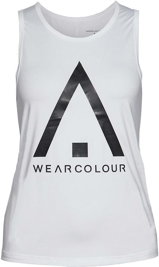 Wearcolour Logo Women's Tank Top, XS White