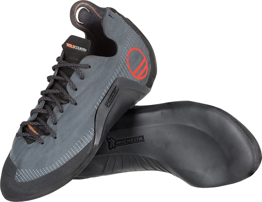 Wild Country Parthian Rock Climbing Shoe - UK 5.5|EU 38.5, Anthracite