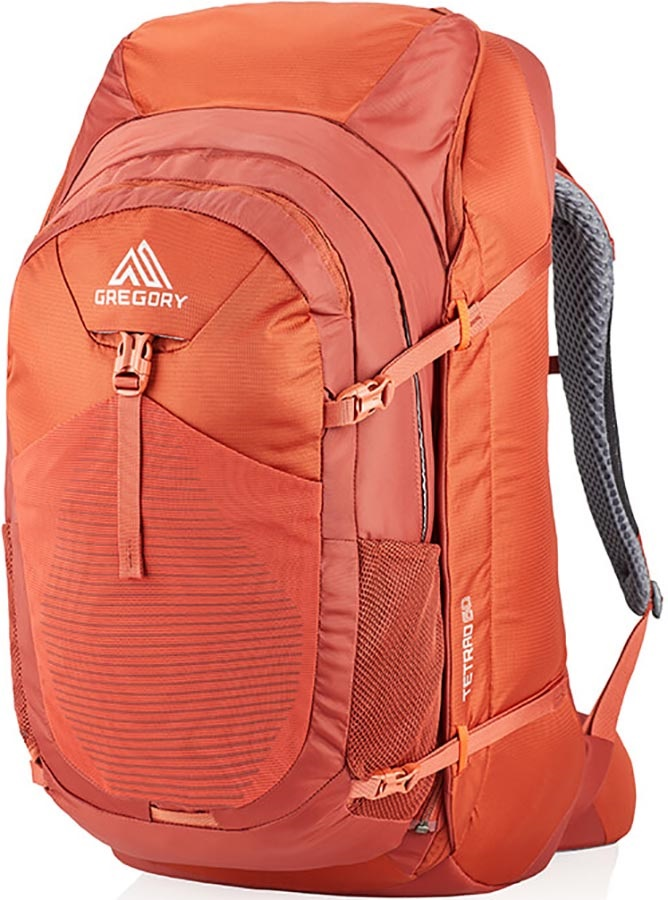 Gregory Tetrad 60 Adventure Travel Backpack, 60L Ferrous Orange