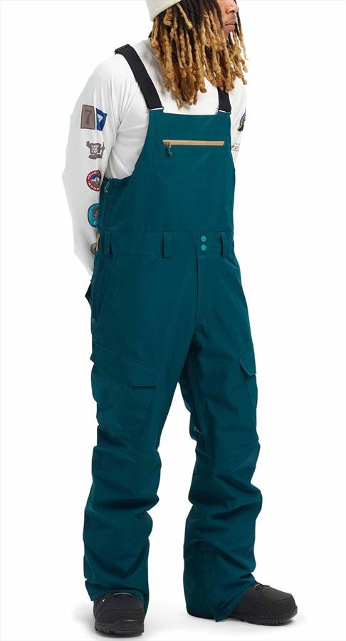 Burton Gore-Tex Reserve Bib Ski/Snowboard Pants, S Deep Teal