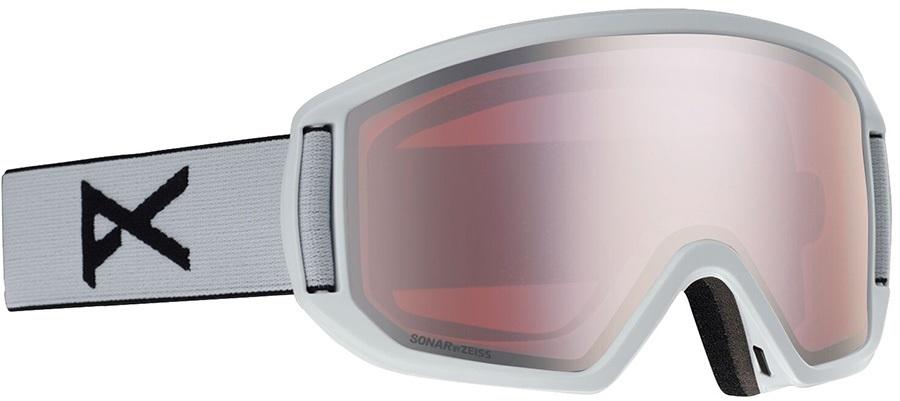 Anon Relapse Sonar Silver Ski/Snowboard Goggles, M/L White
