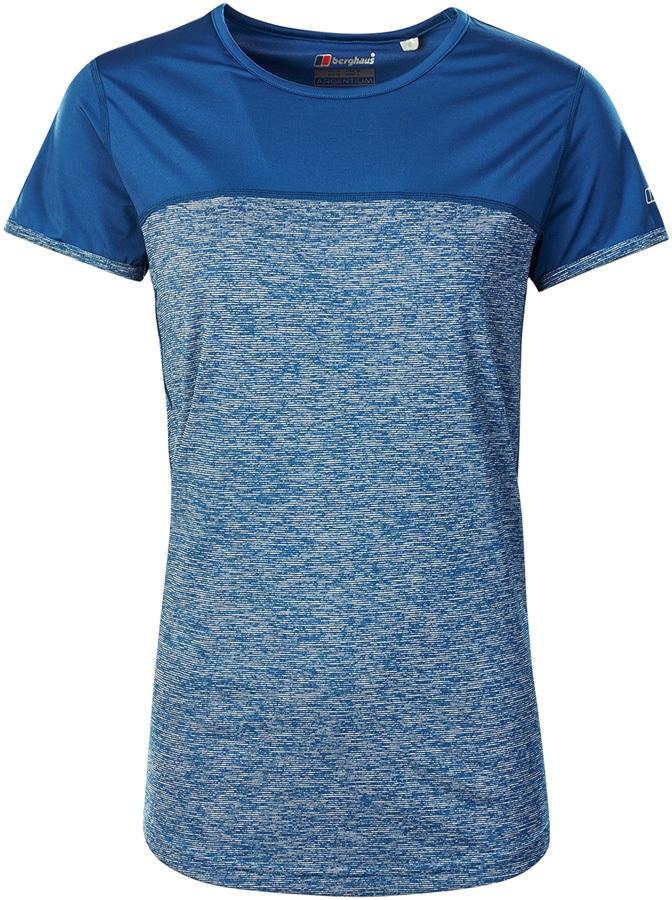 Berghaus Voyager Tech Women's Short Sleeve T-Shirt, UK 14 Galaxy Blue