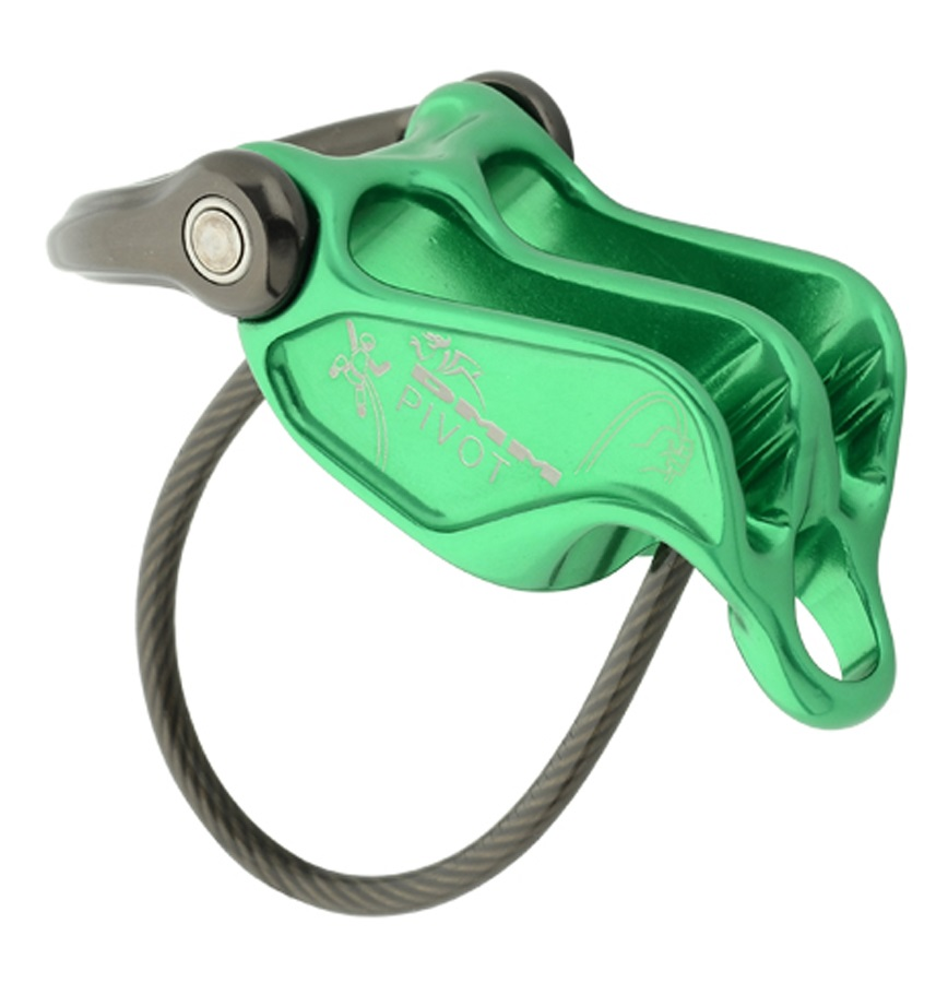 DMM Pivot Rock Climbing Belay Device, Green