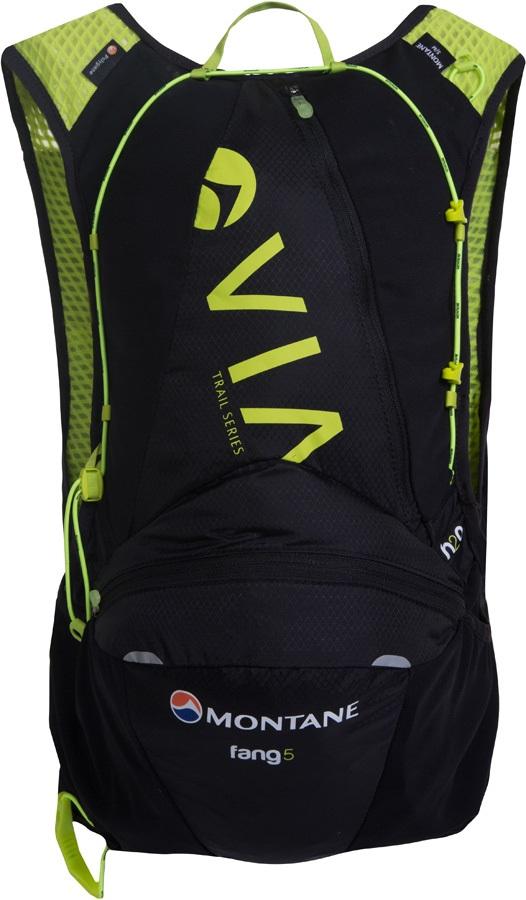 Montane VIA Fang 5 Trail Running Vest Backpack, S/M Black