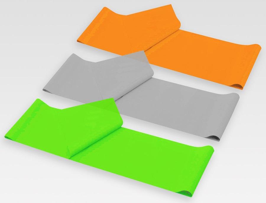Phoenix Fitness Yoga Resistance Band Kit, Orange/Grey/Green
