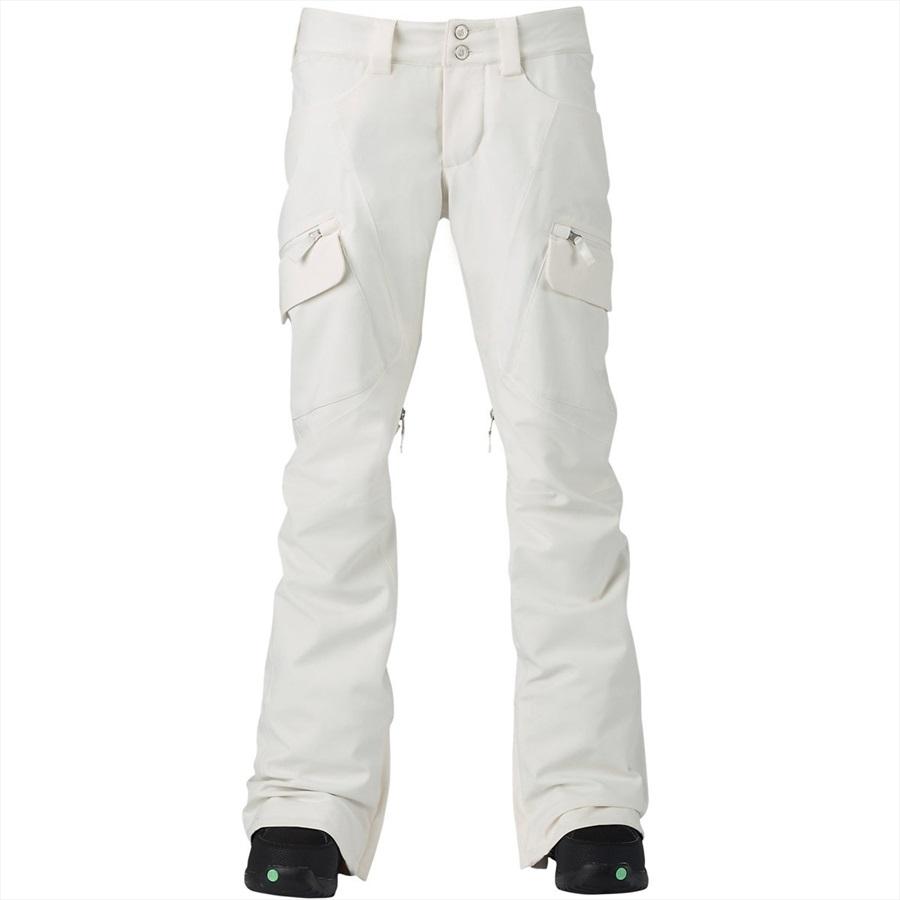 Burton Gloria Women's Ski/Snowboard Pants, S Stout White
