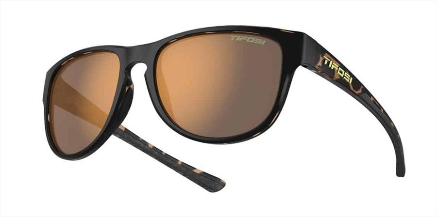 Tifosi Smoove Brown Polarized Sunglasses Satin Black/Java Fade
