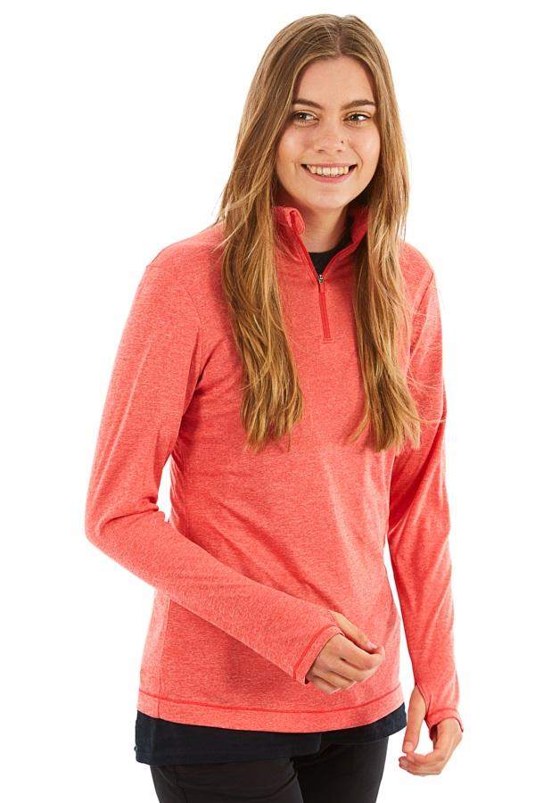 Mountain Hardwear Wicked Long Sleeve Women's Zip T-Shirt, XL Red